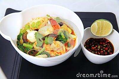 Laksa noodle asian food