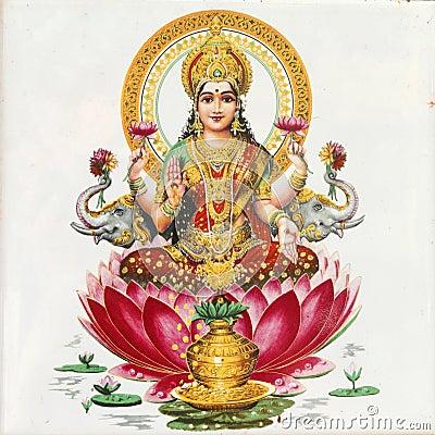 Free Lakshmi Goddess Stock Images - 18949864