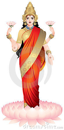 Lakshmi, the Hindu goddess