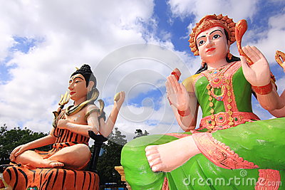 Lakshmi and shiva Hindu god in temple thailand