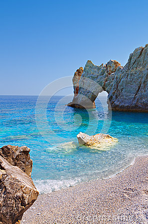 Lalaria beach at Skiathos island, Greece