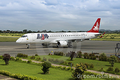 LAM Airlines, Embraer 190 Jet Editorial Stock Image