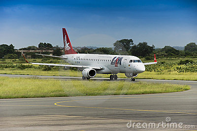 LAM Airlines, Embraer 190 Jet Editorial Photo