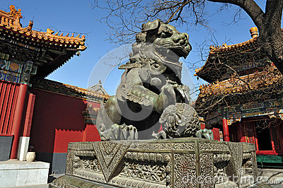 The Lama Temple in Beijing China Editorial Stock Image