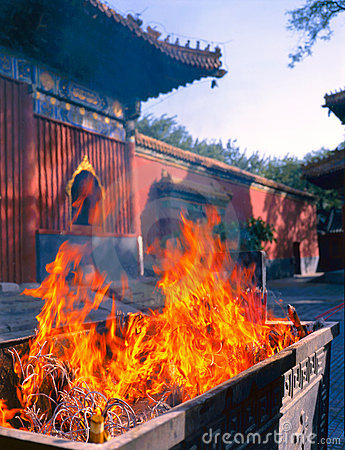Free Lama Temple In Beijing Royalty Free Stock Photos - 23227908