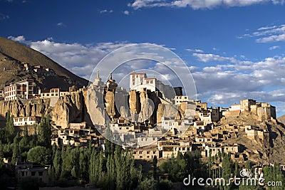 Lamayuru buddhist monastery and village in Ladakh