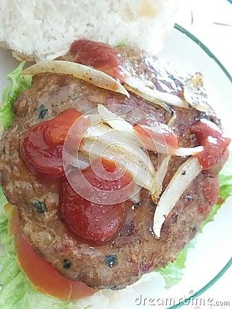 Lamb Burger Editorial Image - Image: 60150890