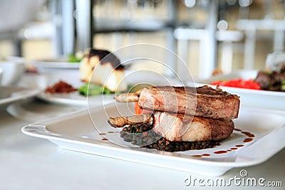 Lamb chop steak
