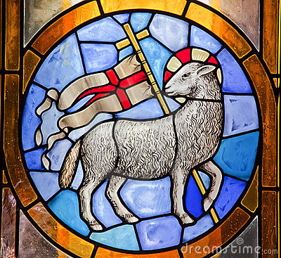 Free Lamb Cross Stained Glass Duomo Cathedral Florence Royalty Free Stock Image - 14913976