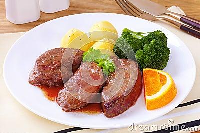 Lamb Liver Dinner