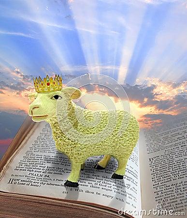 Free Lamb Of God On Bible Stock Photo - 39902060