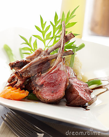 Free Lamb Rack Royalty Free Stock Image - 8987026