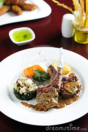Free Lamb Rack - Grilled,with Vegetable Stock Photo - 24456090