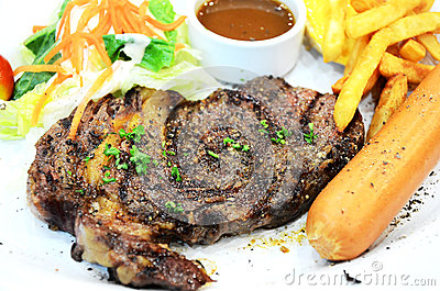 Lamb steak with black pepper