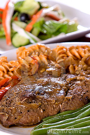 Lamb Steak with macarroni