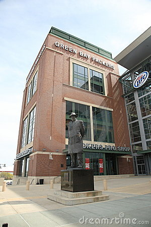 Lambeau Field - Green Bay Packers Vince Lombardi Editorial Stock Image