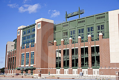 Lambeau Field in Green Bay, Wisconsin Editorial Image