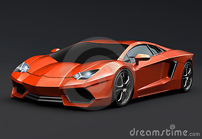 Lamborghini aventador 3d rendering