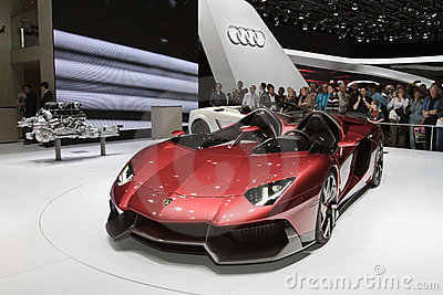 Lamborghini aventador j genf autoausstellung 2012 redaktionelles