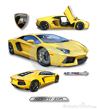 Free Lamborghini Aventador Supercar- Isolated Royalty Free Stock Photography - 92918167