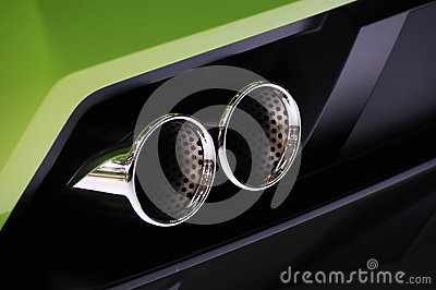 Lamborghini  car exhaust pipe
