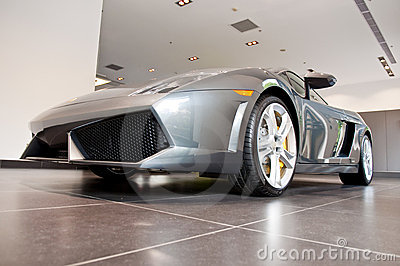 Lamborghini Gallardo in Showroom Editorial Photo