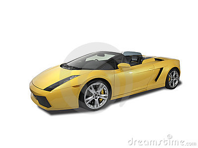 Lamborghini Gallardo on white background