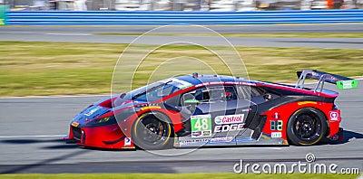Lamborghini GTD race car at Daytona Speedway Florida Editorial Photography