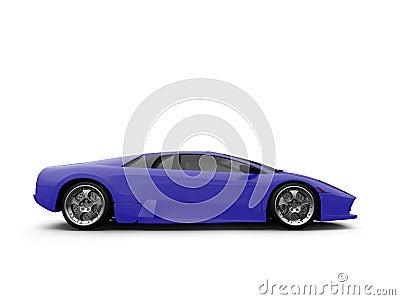 Lamborghini isolated blue