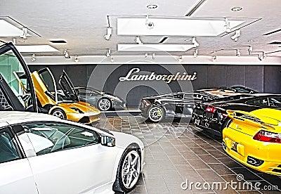 Lamborghini Sales Floor HDR Editorial Photography