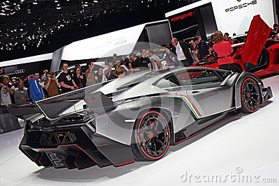Lamborghini Veneno LP750-4 - Geneva Motor Show 2013 Editorial Photo