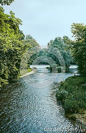Lambro River in the Monza Park