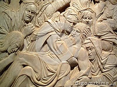 Lamentation of the dead Christ Sculpture