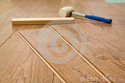Laminate floor and tools used