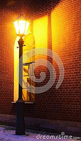 Free Lamp And Brick Wall Stock Photos - 12306393