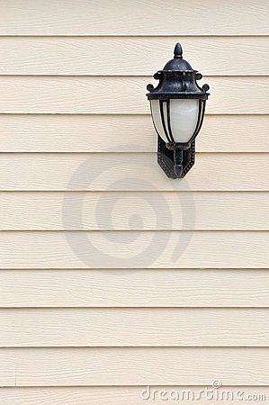 Lamp attached on wall