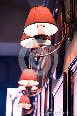 Lamp In A Bar Stock Image - Image: 25167121