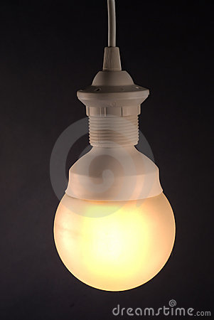 Lamp on a black background