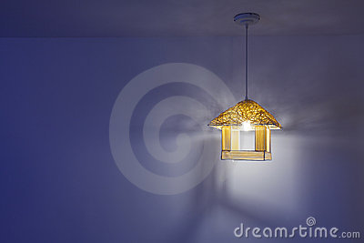 lamp with blue background