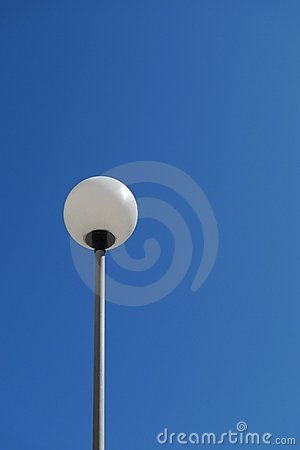 Lamp and blue sky