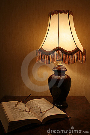 Free Lamp & Book Stock Photo - 427870