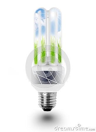 Lamp bulb with solar panels.