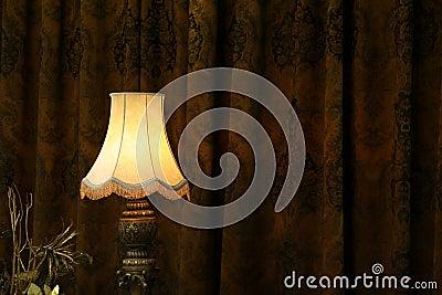 Lamp in dark.