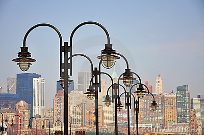 Lamp on the deck, New York City
