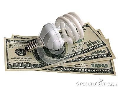 Lamp on dollars