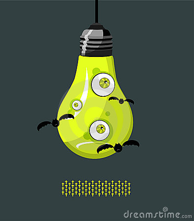 Lamp with eyes A