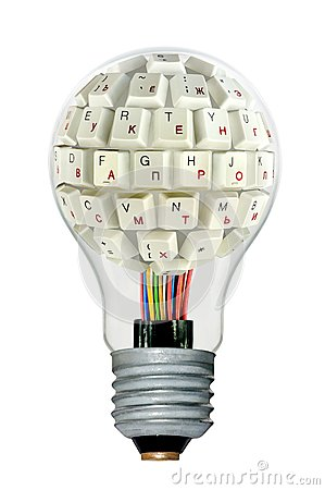 Lamp with a keyboard