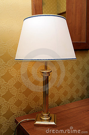 Lamp with a lamp-shade