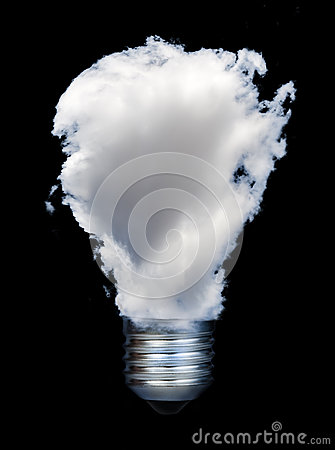 Lamp made ​​of clouds