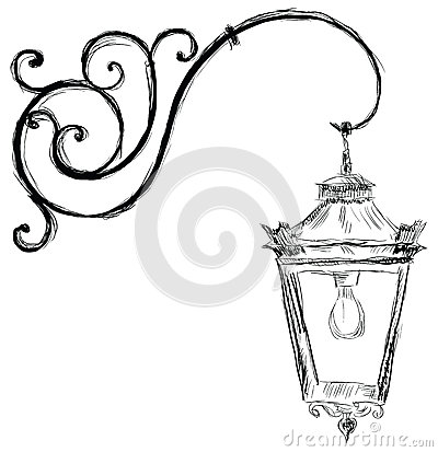 Lamp In Old Style Royalty Free Stock Photography